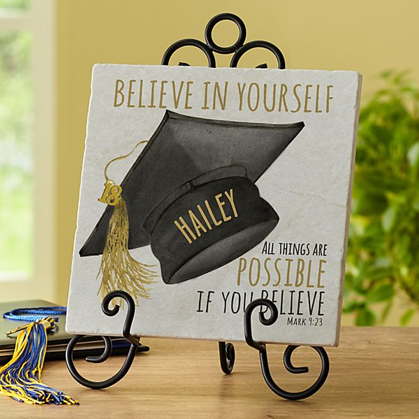 Believe Graduation Tile Keepsake