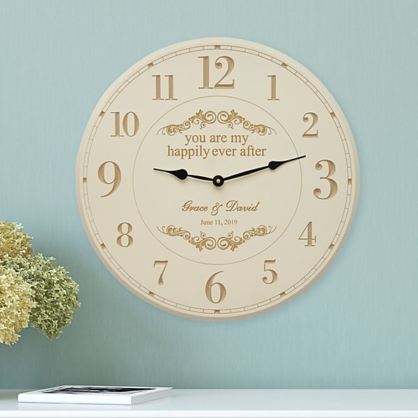 You Are My Happily Ever After Wall Clock