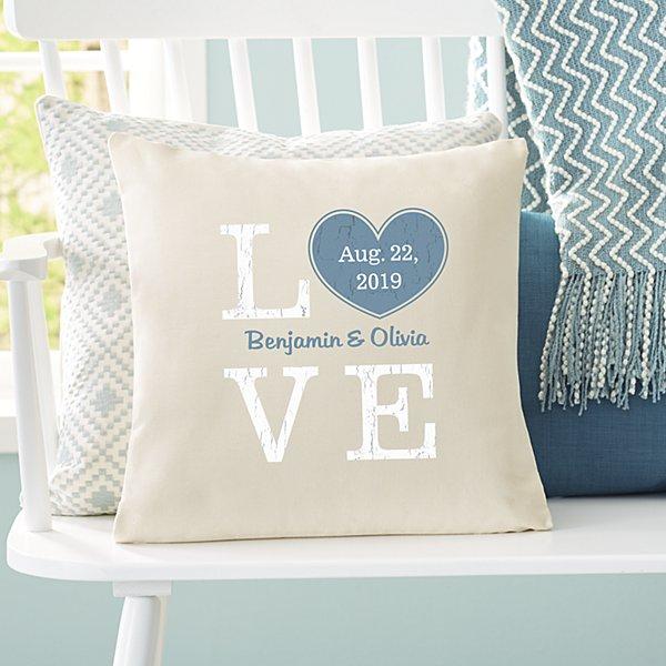 Rustic Love Heart Throw Pillow