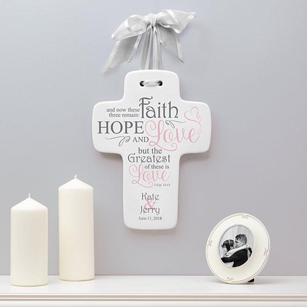 Hope, Faith & Love Wedding Cross
