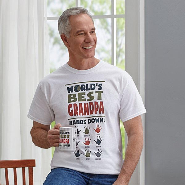 Hands Down Best Dad/Grandpa T-Shirt