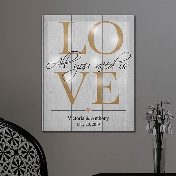 TwinkleBright® LED All You Need Is Love Canvas