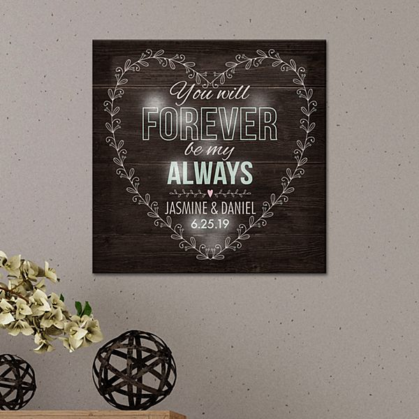 TwinkleBright® LED Forever Be My Always Canvas
