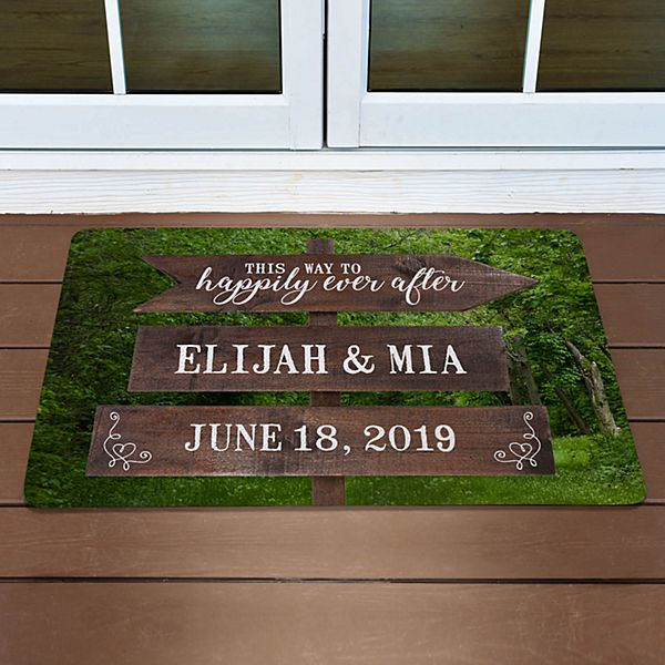 This Way to Happily Ever After Doormat