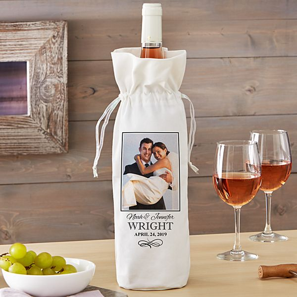 Wedding Photo Wine Bag