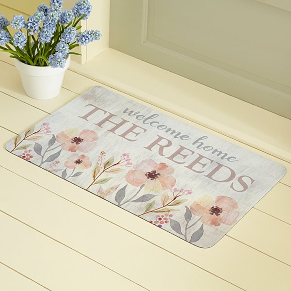 Watercolor Garden  Doormat