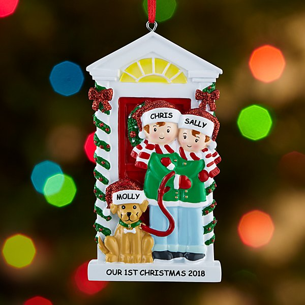 Bark the Halls Couple Ornament