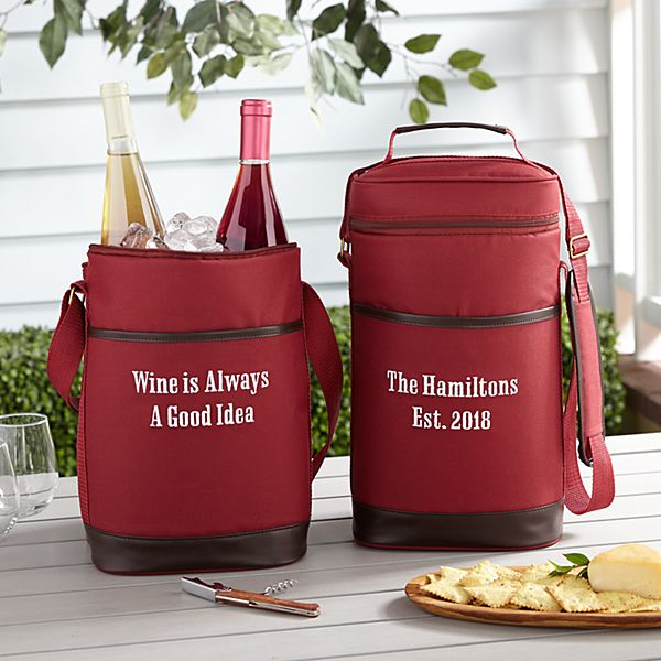 Canvas & Leather Wine Cooler