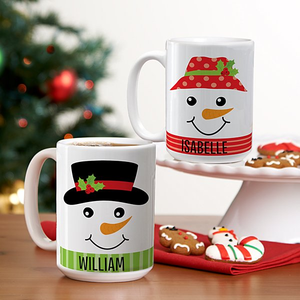 Cheery & Bright Snowman Mugs