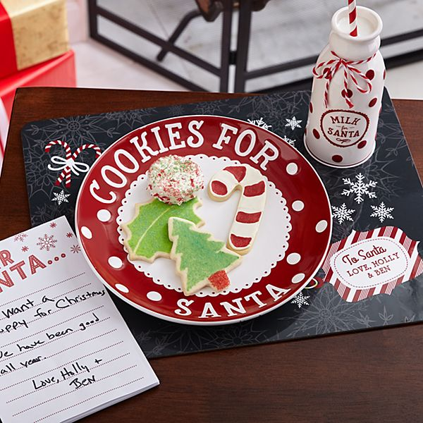 Cookies for Santa Plate Set