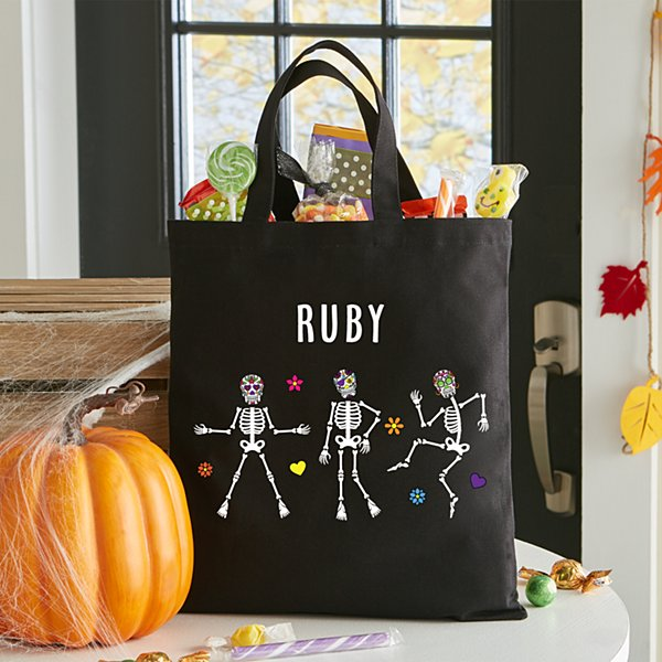 Dancing Skulls Halloween Treat Bag