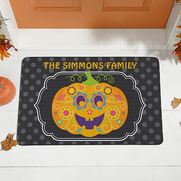 Floral Pumpkin Doormat