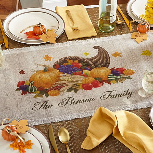 Harvest Gather Table Runner