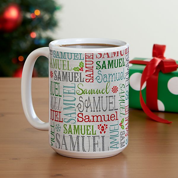 Holly Jolly Name Mug