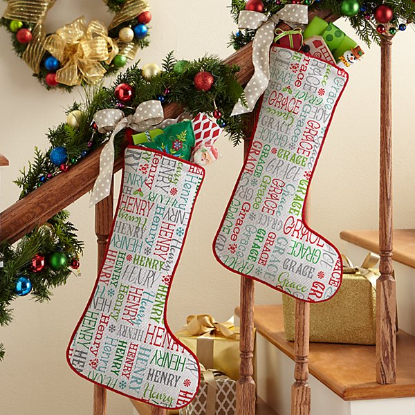 Holly Jolly Name Stocking