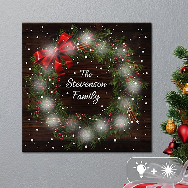 TwinkleBright® LED Christmas Wreath Canvas