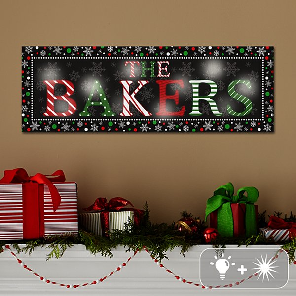 TwinkleBright® LED Festive Name Canvas