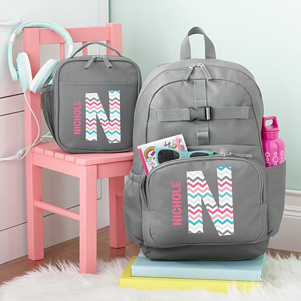 Pretty Pattern Charcoal Backpack Collection