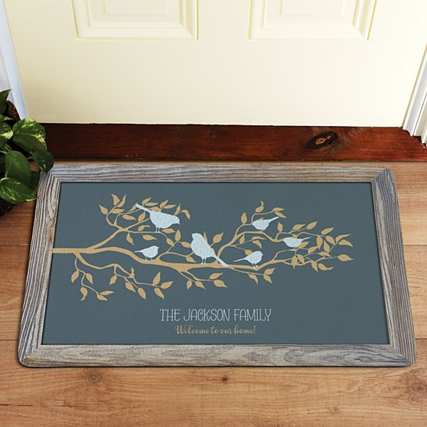 Birds on a Branch Doormat