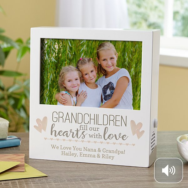 Grandkids Fill Our Hearts Recordable Frame