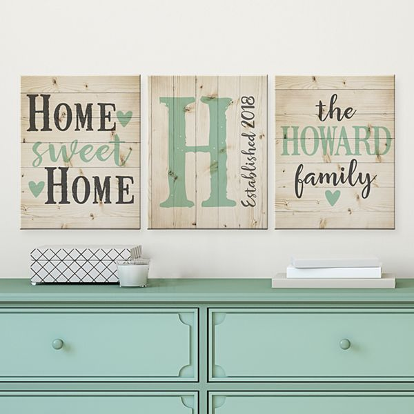 Home Sweet Home 3pc Canvas Set