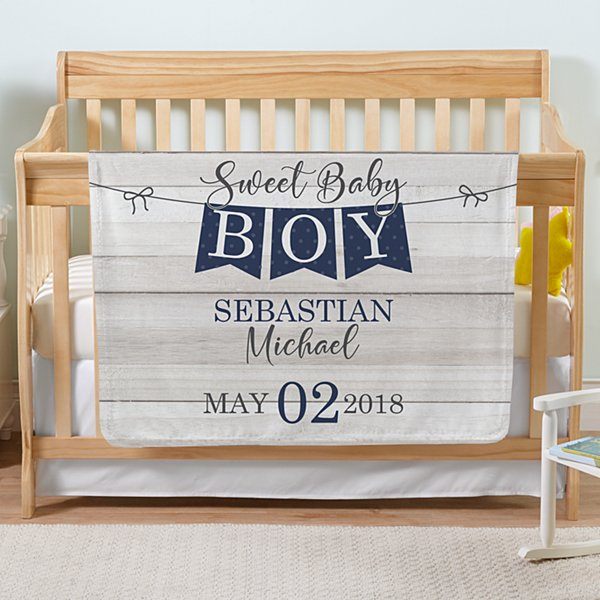 Sweet Baby Banner Plush Blanket