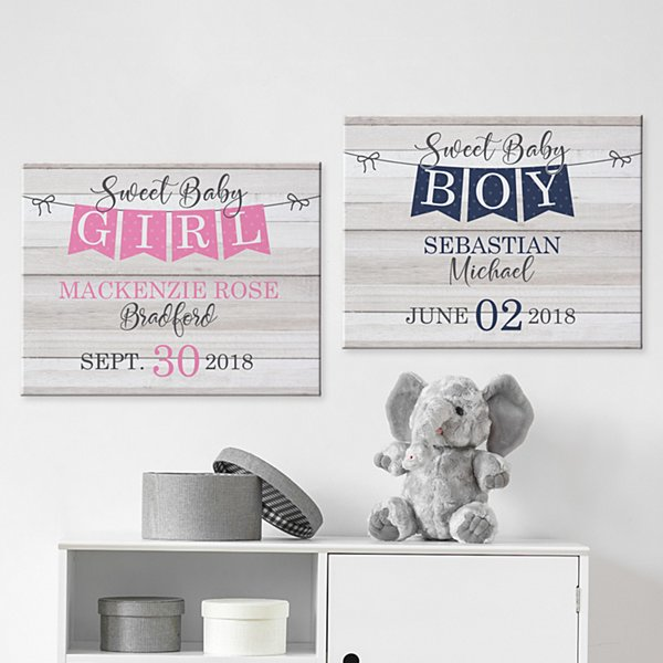 Sweet Baby Banner Canvas