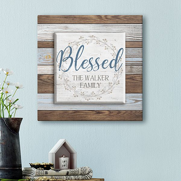 Blessed Wreath Canvas