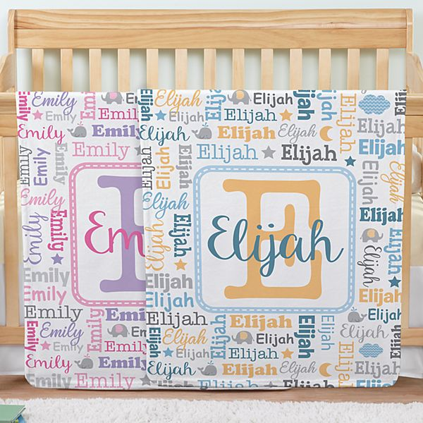 Collage Name Blanket