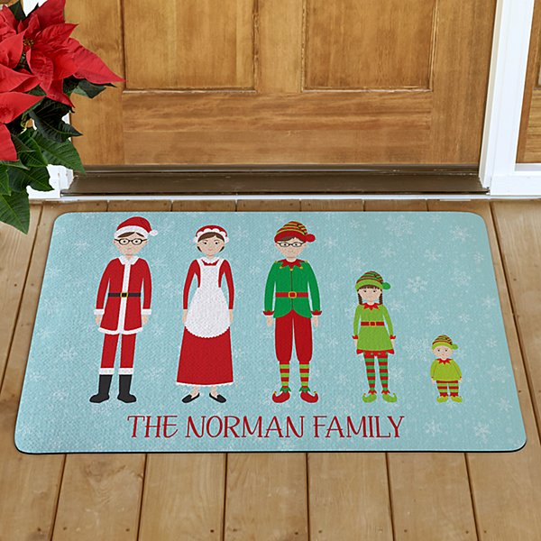 Dressed for the Holidays Family Doormat