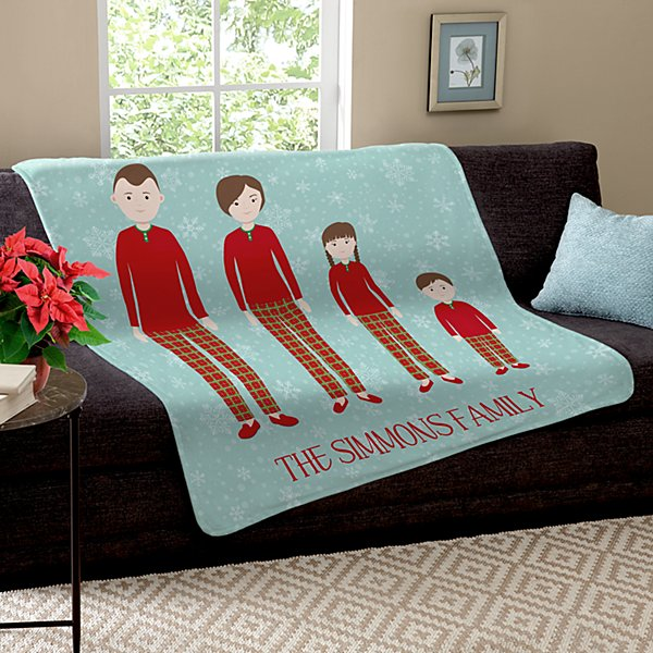 Dressed for the Holidays Family Plush Blanket