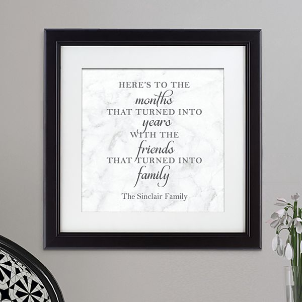 Friends Are Family Square Framed Print