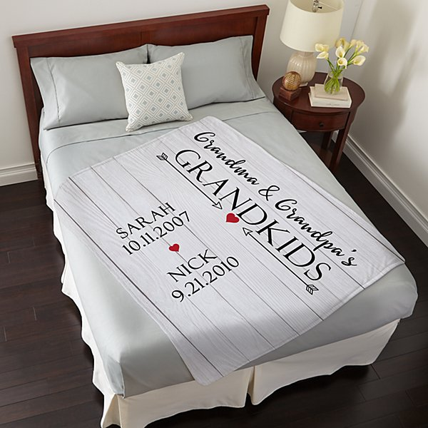 Grandkids Have Our Hearts Plush Blanket