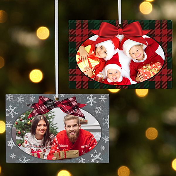 Greatest Gift Photo Wooden Rectangle Ornament