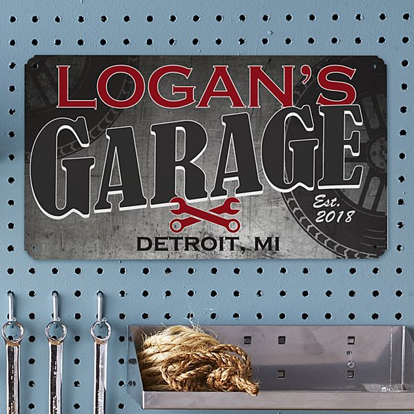 His Garage Metal Sign