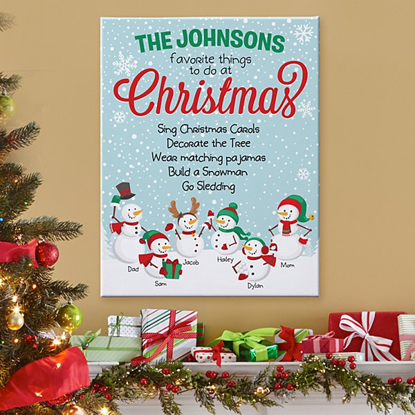 Holiday Favorite Things Canvas