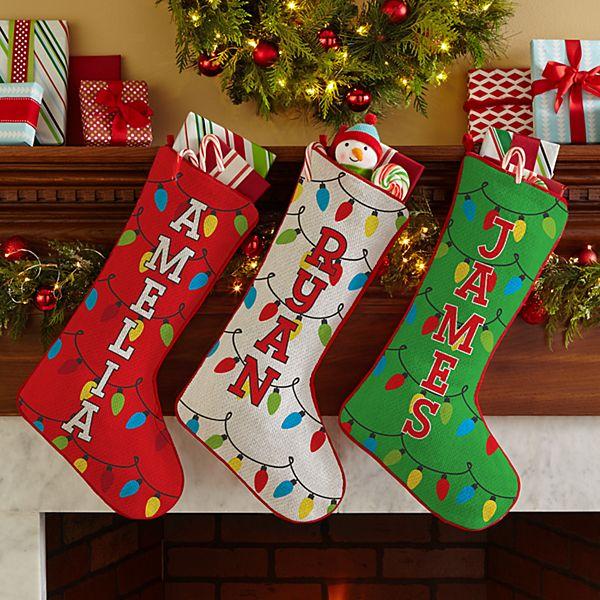 Holiday Lights Stocking