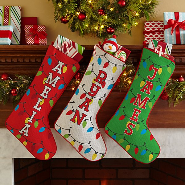 Holiday Lights Stocking