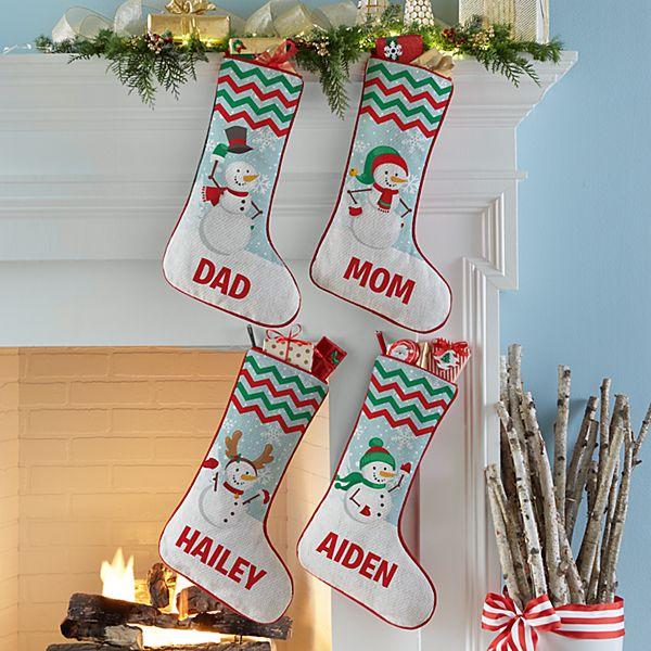 Merry Snowman Family Stocking