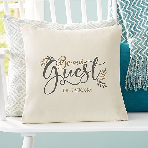 Our Guest Throw Pillow