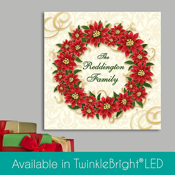 Poinsetta Wreath Canvas