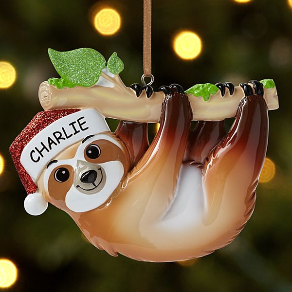 Silly Sloth Ornament