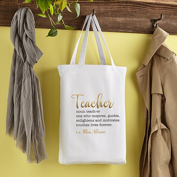 Teacher Meaning Tote Bag