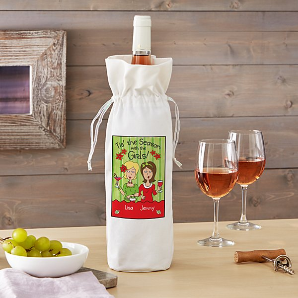 'Tis the Season with the Girls Wine Bag