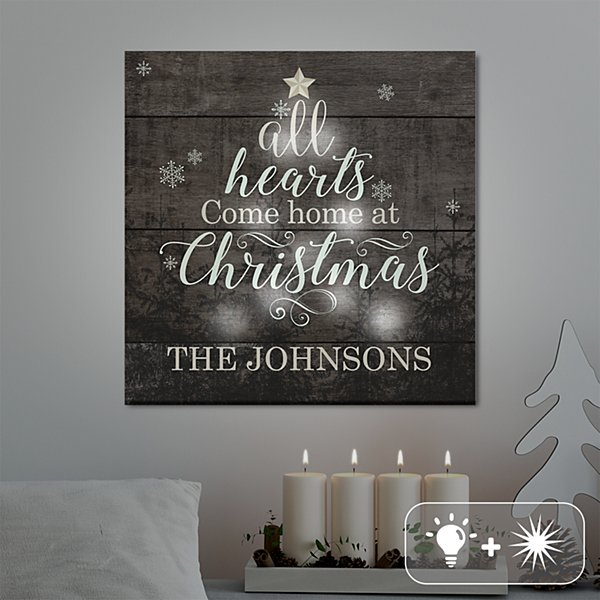 TwinkleBright® LED All Hearts Come Home at Christmas Canvas