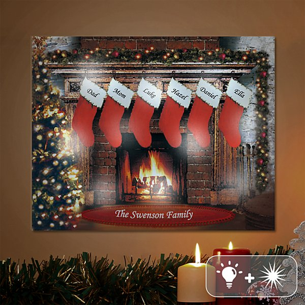TwinkleBright® LED Christmastime Canvas
