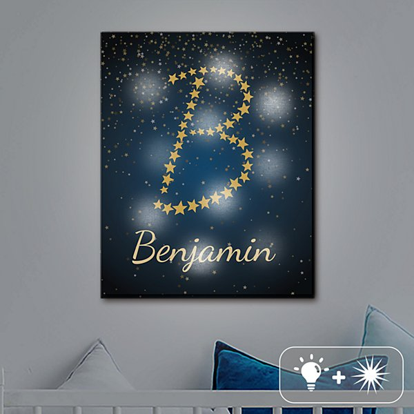 TwinkleBright® LED Name in Stars Canvas