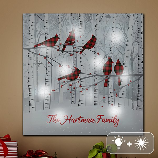 TwinkleBright® LED Winter Woodland Family Canvas