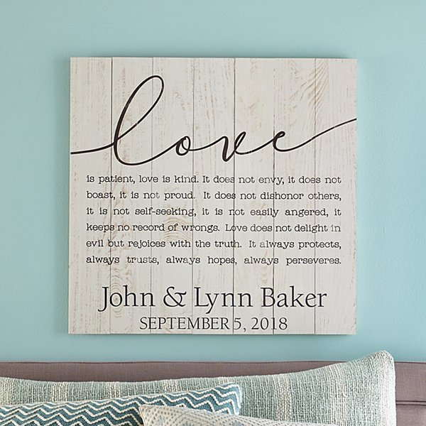 Love Script Paragraph Oversized Wood Pallet Wall Art