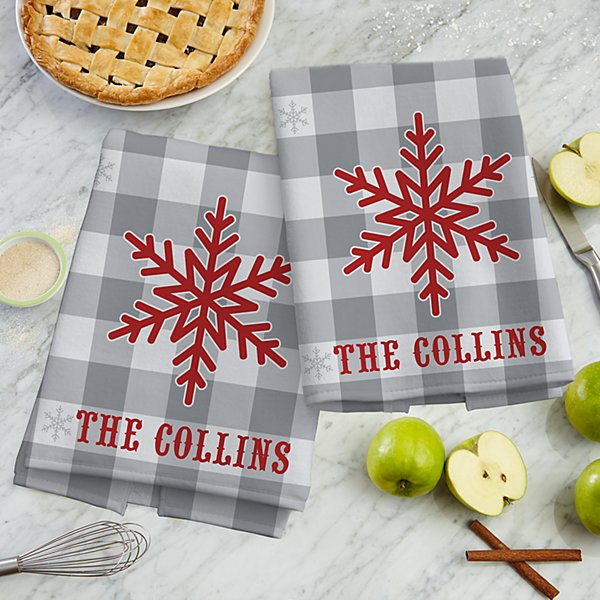 Snowflake Wishes Kitchen Towel